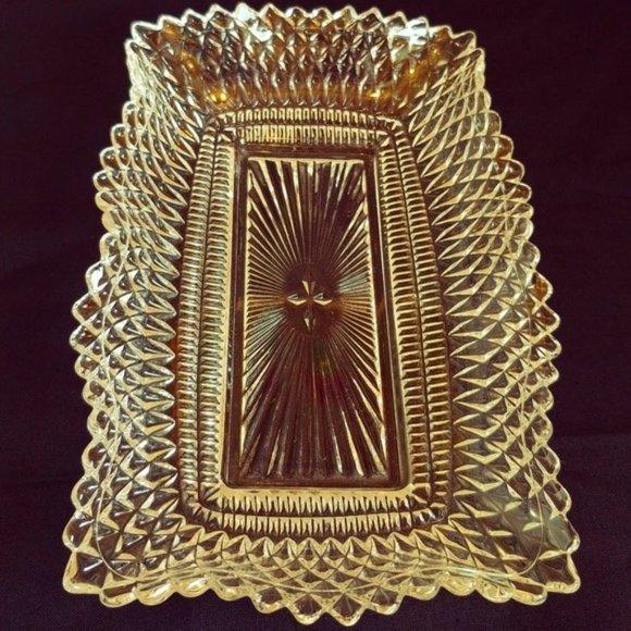 COPY - Vintage Westmoreland Crimped Glass Tray